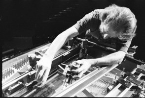 Trimpin modifying a piano to enable it to play compositions by Conlon Nancarrow