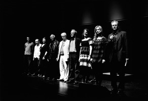 All the featured composers of OM 15 with Charles Amirkhanian (far right)