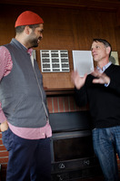 Jason Moran and David Jaffe at the Djerassi Resident Artists Program in Woodside, CA