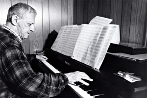 Leo Ornstein playing his piano
