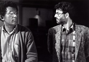 Anthony Braxton (left) and Charles Amirkhanian, in San Francisco