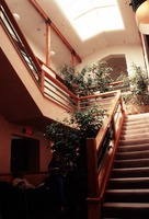 Atrium of the KPFA office and studios, Berkeley CA.