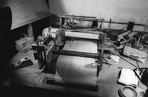 Conlon Nancarrow's piano roll punching machine