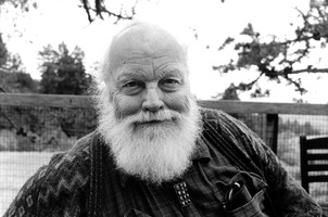 Lou Harrison, on his retreat at the Djerassi Resident Artists Program in Woodside CA,