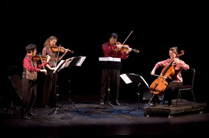 The Del Sol Quartet perform on stage during OM 11