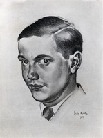 A drawing of George Antheil by the Russian painter Georg Kirsta