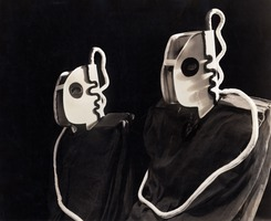 "Original costumes from the opera ""Helen Retires"" designed by Frederick Kiesler"