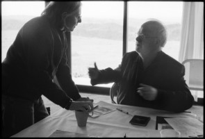 Janice Giteck and Louis Andriessen during the Djerassi Resident Artists program prior to OM 16