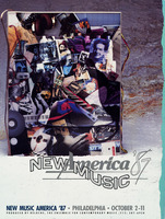 Cover of the printed program for New Music America 1987