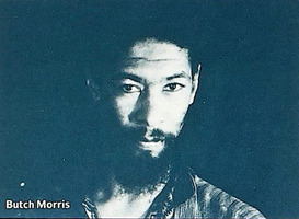 "Lawrence ""Butch"" Morris, HMP Trio (from the New Music America 1987 printed program)"