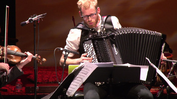 Accordionist Andreas Borregaard of Trio Gáman