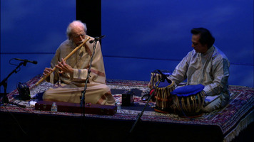 G. S. Sachdev and Swapan Chaudhuri performing during the opening concert of the 18th Other Minds Festival, March 1, 2013