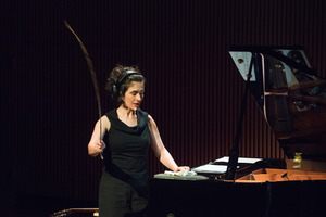 Eve Egoyan during performance of John Oswald's Homonymy, during the second concert of OM 21
