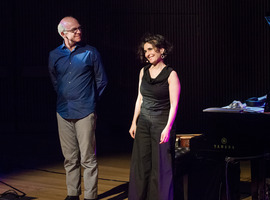 John Oswald and Eve Egoyan during the second concert of OM 21