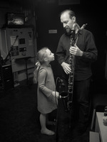 Bohdan Hilash backstage with daughter before the third and final concert of OM 21