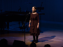 Meredith Monk solo works for voice during the third concert of OM 21