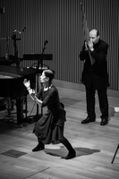Meredith Monk and Bohdan Hilash performing during the third concert of OM 21
