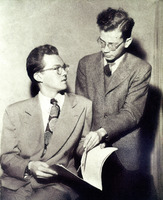 James Cahill (lft) and Gordon Cyr (rt), 1949