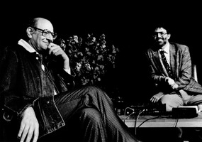 Mauricio Kagel and Charles Amirkhanian during Speaking of Music, March 1988