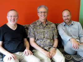(l to r)  Grahame Dudley, Charles Amirkhanian, and Luke Altmann