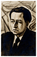 Portrait of Dane Rudhyar drawn by Winold Reiss
