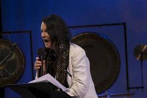 Anne Waldman performing during the first concert of OM 23