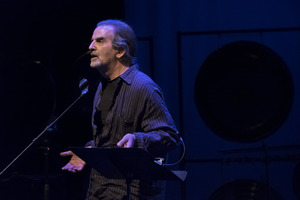 Aram Saroyan performing during the first concert of OM 23